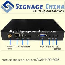 SC-8028 Network Digital Signage Web Content Media Player led notice board
