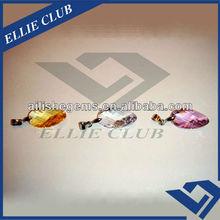 high quality twist leaf shape jewelry pendants with zirconia