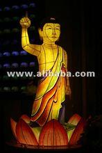budda temple lamp