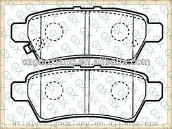 Brake pads D1101 for Nissan Pathfinder 2005