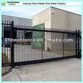 7.5m deslizante portão de ferro pedestre( sales2@china- metal- cerca. Ocm)