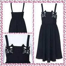 2013 Woman Sexy Cat Face Black Dress HSL030