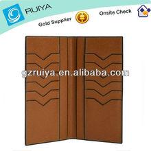 edge oil painting genuine leather men card wallet