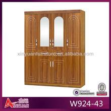 W924-43 new oak bedroom furniture wooden wardrobe