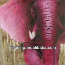 handmade elephent oil painting on canvas