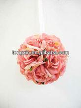 flower decoration factory artificial hanging flower ball
