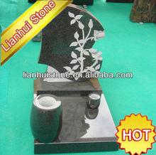 baratos granito lápidas con jarrones de flores