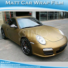 Matt Gold Car Wrap Vinyl Car Sticker With Air Free Bubbles 1.52x30M