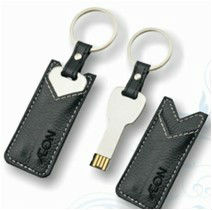 new key with leather case and keychain usb pen drive flash disk
