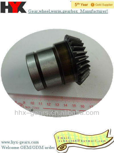 top quality new type high precision cnc hobbing metal straight bevel gear