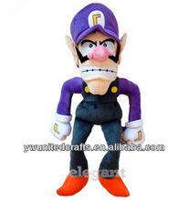 "Nintendo Super Mario Brothers Bros Waluigi 12"" Soft Toy Plush Doll"