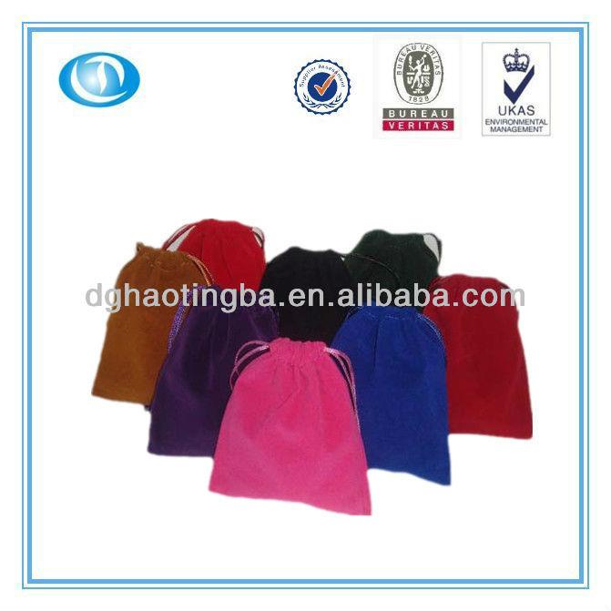 0828 Promotional custom velvet bag for gift