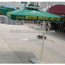 comercial outdoor custom printing market umbrella aluminum