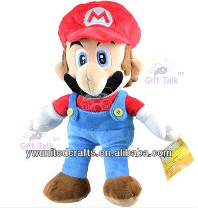 "NEW Nintendo Super Mario Bros 12"" Red Mario Soft Plush Figure Doll Toy"