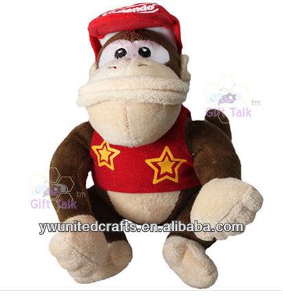 "NEW Nintendo Super Mario Bros Diddy Kong 12"" Plush Figure Doll Toy"