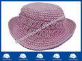 Roxo crochê chapéu de palha para crianças