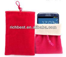 cheapest Flat Flannelette bag/velvet pouch/gift packing