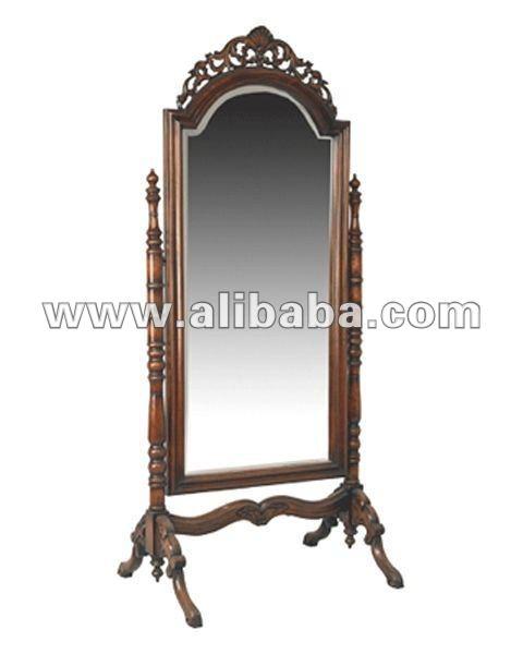 cheval  espejo antiguo  de caoba muebles finosMuebles Antiguos