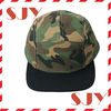 stone washed cotton twill 5 panel camo pigment dyed caps