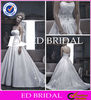 Hot Sale Sexy Strapless Sweetheart Open Back Ruffle Embroidery Satin Ball Gown Wedding Dress 2014 XZ024