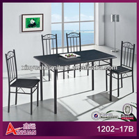 Popular indoor antique wrought iron dining table