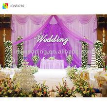 2013 latest New stage elegant middle hospital curta purple organza wave decor for sweety romance wedding party birthday chrismas