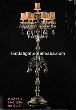 Crystal Floor Standing Chandelier Lamp