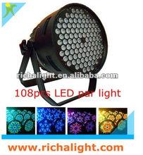 108X3w rgbw dmx stage lighting systems