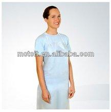 Disposable PE plastic hospital medical apron,dental apron,Waterproof PE Kitchen Apron
