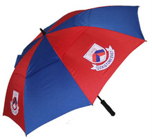 OEM wholesale and China factory manufacturing beautiful 2013 new gift blue white umbrella outdoor umbrella golf umbrella
