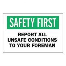 Brady 69464, consignas de seguridad signo