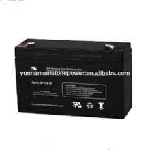 Sunstone High Quality Dry Battery SPT 6v10ah Deep Cycle Sealed Lead Acid Battery for sale