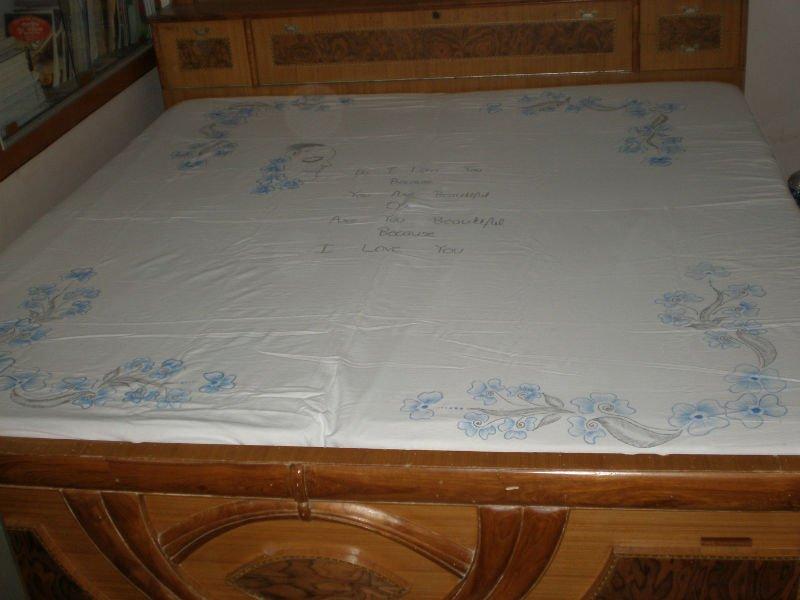 Pintadas à mão designer folha de cama