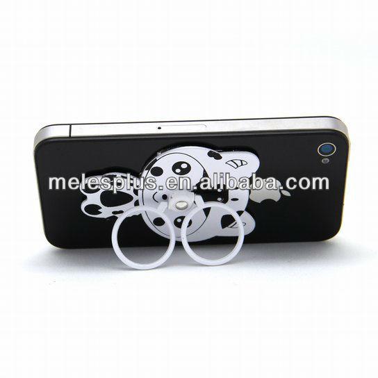 Most popular printing logo medal two rings lazy sock mobil phone holder