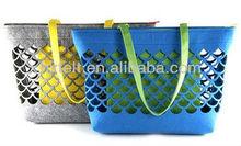 Handmade Fashion Hollow Out Wholesale Felt Carry Bag