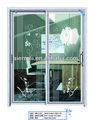 puerta de diseño de la parrilla de hierro, puerta del patio, puerta de seguridad con doble acristalamiento con diseño de la parrilla