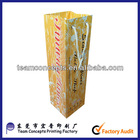 Custom print glossy wholesale paper wine bags