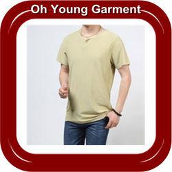 slim fit plain 100 cotton t-shirt, Hot product t-shirt,cheap price Low MOQ t-shirt
