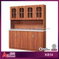 K814 econômico e prático madeira projeto do armário de cozinha