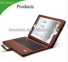 adjustable angle bracket PU leather tablet keyboard cases for iPad mini