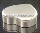 tintop heart shape series tin box with hinge