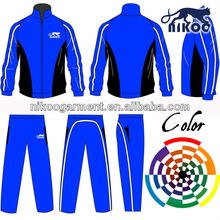 custom made men outdoor sports tracksuits in thai quality