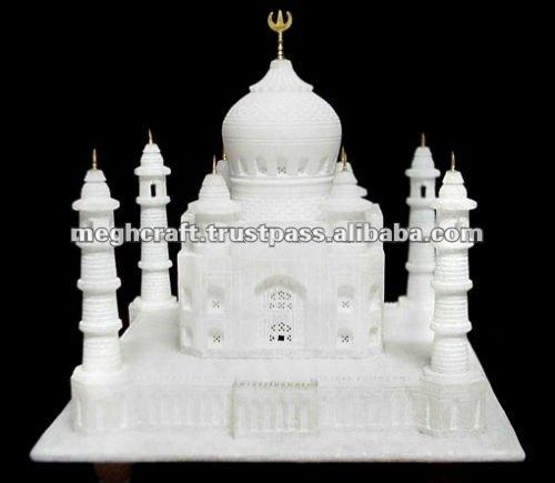 White stone handmade Taj mahal Gift - Art & Craft Gift - Religious Gift - Eid gift