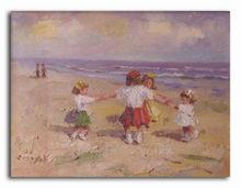 Joyful children's game scenery oil paintings