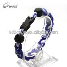 make sports braided rope ge-titanium ion bracelet
