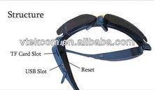 720p hd sport glass camera with av out full range mini camera, pen camera, sun glasses camera