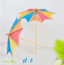 Party wooden parasol picks