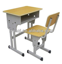 Commercial metal frame cheap price wooden middle school student desk and chair YA-067