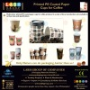 Printed PE Coated Paper Container for Coffee