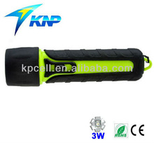 3 W LED water resistant diving most powerful flashlight